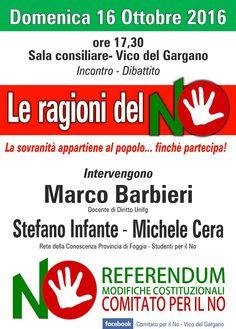 A Vico si discute di NO al referendum costituzionale - http://blog.rodigarganico.info/2016/politica/vico-si-discute-no-al-referendum-costituzionale/