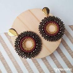 Clay Earrings, Gemstone Earrings, Statement Earrings, Ear Jewelry, Beaded Jewelry, Jewelry Making, Jewellery, Beaded Earrings Patterns, Indian Earrings