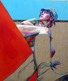 "Saatchi Art Artist Cristina Troufa; Painting, ""Galinheiro #4"" #art"