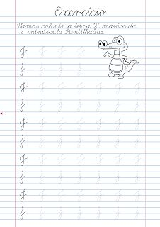Atividade Pontilhadas para Cobrir: Atividade Letra J pontilhada para imprimir Alphabet Tracing Worksheets, Cursive Alphabet, Tracing Letters, Printable Worksheets, English Worksheets For Kindergarten, Letter J, Learning Spanish, Learning Activities, Bullet Journal