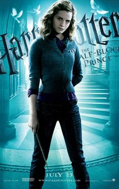 11x17 Inch Harry Potter and The Half Blood Prince poster features Hermione Granger. Get it now at http://harrypottermovieposters.com/product/harry-potter-and-the-half-blood-prince-movie-poster-style-ae-11x17-inch-mini-poster/