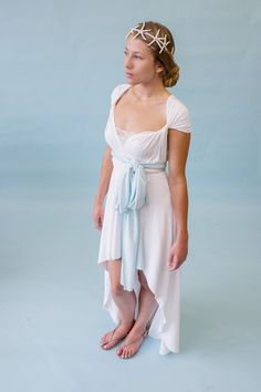Casual Chic Beach Wedding Dress- North Shore White High/ Low by CoralieBeatrix, $98.99