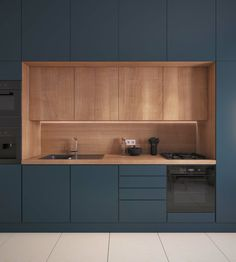 Modern Kitchen Cabinets, Kitchen Cabinet Colors, Kitchen Layout, Cafe Interior, Interior Design Kitchen, Living Room Kitchen, Home Decor Kitchen, Home Entrance Decor, Cuisines Design