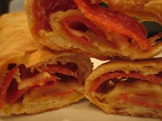 @Stacy Stone Dellens this is classic Pittsburgh pepperoni roll. Rhodes frozen bread dough if I'm not mistaken, though I usually make homemade! Thanks @Michelle Flynn (Brown Eyed Baker)