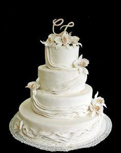 cattleya orchids wedding cake  wesh artslab