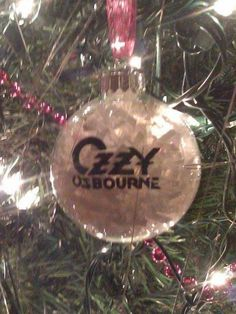 ozzy osbourne christmas ornament heavy metal christmas heavy metal music ozzy osbourne christmas - Heavy Metal Christmas Decorations