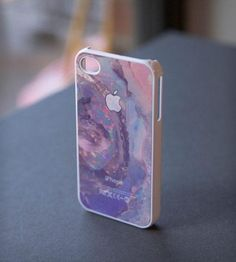 White #Apple Logo on Jewel Print iPhone Case (by jess + sean, in #Brooklyn, via #Scoutmob