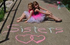 Sisters photo idea. Outdoors