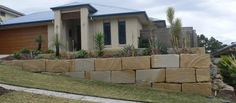 A Grade Sandstone Retaining Walls - Envirostruct Services