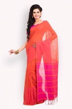Self Woven Cotton Bengal Handloom Saree-B0401022