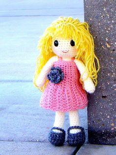 doll+free+crochet | Aino - Amigurumi crochet girl doll pattern / PDF on Wanelo