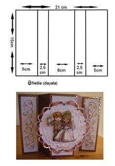 Geprägte Karten – Oh, les rues de France! Card Making Templates, Card Making Tutorials, Card Making Techniques, Fun Fold Cards, Pop Up Cards, Folded Cards, Step Cards, Shaped Cards, Card Sketches