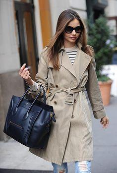 Miranda Kerr Street Chic : Trench Coat & A Black Celine Michael Kors Bags Outlet, Cheap Michael Kors, Handbags Michael Kors, Fashion Moda, Love Fashion, Autumn Fashion, Teen Fashion, Fashion Bags, Basic Style