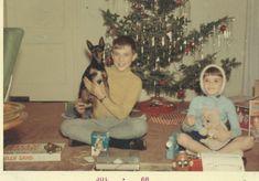 Christmas Morning 1967 Girl Boy Sitting Under by AlaskaVintage, $4.95