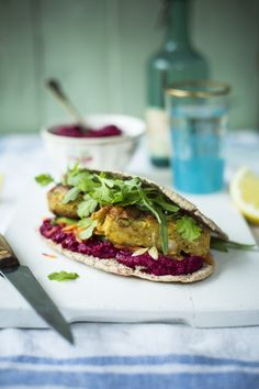 Moroccan Chickpea Burgers: a spiced veggie burger bursting with flavour | DonalSkehan.com