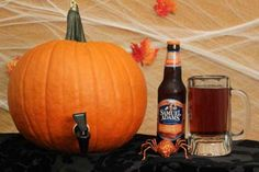 Create a festive beverage dispenser by attaching a spigot to a pumpkin. Fill it with pumpkin ale or the fall-themed cocktail of your choice.