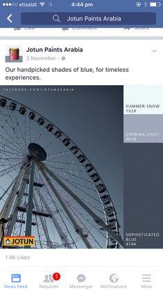 Jotun paints- sophisticated blue