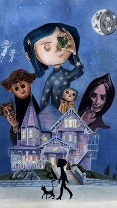 Coraline movie poster on Behance illustration tim burton movie posters Coraline movie poster Coraline Jones, Film Coraline, Coraline Drawing, Tim Burton Kunst, Tim Burton Art, Burton Burton, Movie Poster Art, Poster On, Film Posters