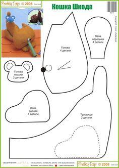 free pattern gato cat felt pattern ideas design craft diy