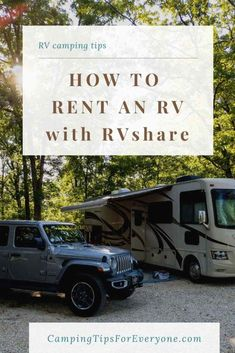 Learn how to rent an RV with RVshare. Tips for finding and renting the right RV for your vacation. PLUS other helpful camping tips. Rv Camping Tips, Camping For Beginners, Rv Tips, Rv Travel, Travel Tips, Rent Rv, Small Rv, Rv Organization, Mini Bus