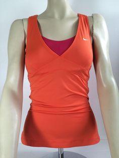 NIke Dri Fit Women's Tennis Sleeveless Tank Top Orange & Pink Sz. Small #NikeDriFit #shirt