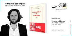 Lauréat du prix de Flore, Aurélien Bellanger est au #SDL2015 !