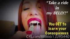 """Take a ride in my #belly!"" #vore #giantess U GET 2 LEARN UR CONSEQUENCES @c4supdates #SLAVE  http://goo.gl/OZthvQ"