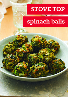 STOVE TOP Spinach Balls – Your holiday guests won't be able to stop talking about these spinach ball appetizers. With chopped spinach, mushrooms, and Parmesan cheese, you'll be asked to make these for every event—ready for serving to your family and friends in just 35 minutes