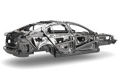 Jaguar XE aluminum monocoque - Body-In-White Jaguar Xe, New Mx5, Small Luxury Cars, Mechanical Art, Chain Drive, Aluminium Sheet, Small Engine, Bike Design, Audi A4