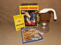 Bel Cream Maker Brown Boxed With Instructions And Recipe Book Retro