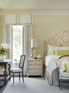Traditional bedroom with contemporary flair by Chenault James Interiors