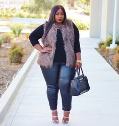 Plus Size Fashion for Women - LACE N LEOPARD: winter transition