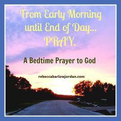 A Bedtime Prayer to God