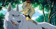 My favorite Ghibli film! Princess Mononoke, amazing animation, storyline, and message! Art Studio Ghibli, Studio Ghibli Films, Anime Wolf, Manga Anime, Anime Dvd, Hayao Miyazaki, Best 2d Animation Software, Animation Film, Totoro