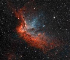 """Nebulosa do Bruxo. NGC 7380. """"Constelação de Cepheus""""."""