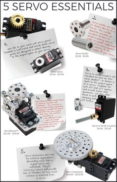 5 Servo Essentials Get the most from your servos with these five essential servo attachments/accessories.