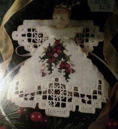 Hardanger Instructions | Lot of 4 Hardanger angel patterns Emie Bishop photo, picture, image on ...