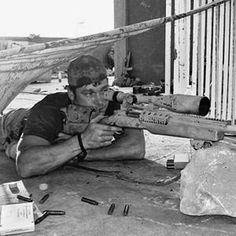 Chris Kyle - 10 year SEAL, deadliest sniper in American history, 5 bronze stars and 2 silver stars. And punched Jesse Ventura in the face.