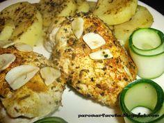 Pierś z kurczaka nadziewana pieczarko-pomidorem z parowaru Zucchini, Vegetables, Food, Diet, Essen, Vegetable Recipes, Meals, Yemek, Veggies