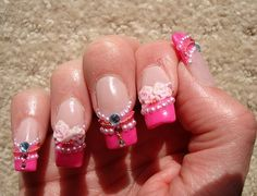 Indian 3d acrylic nail art designs 2013