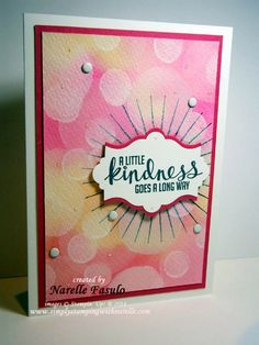 Narelle Fasulo - Independent Stampin' Up! Demonstrator - Bokeh Technque