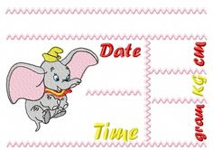 Dumbo Announcement  pillow English by EmbroiderByMADELEINE on Etsy Pillow Design, Marketing And Advertising, Announcement, Embroidery Designs, Handmade Items, English, Pillows, Sewing, Digital