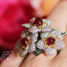 Flowers are forever Beautiful ring by @giampierobodino #highjewelry #coutureweek…