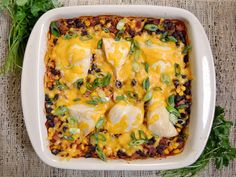 OMG! I made this tonight and I could have eaten the entire casserole. I put mine in a 9x13 pyrex and used more chicken. I topped my servings with sour cream too-YUMMMM!!! salsa chicken casserole - Budget Bytes