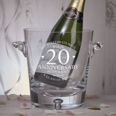 Beautiful premium quality personalised gifts to celebrate a traditional 'china wedding' anniversary. Emerald Wedding Anniversary, 20th Wedding Anniversary Gifts, Champagne Buckets, Personalized Wedding Gifts, Names, Couple, Luxury, Happy, China