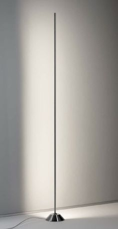 contemporary nickel floor lamp AX-LED by Peter Steng STENG