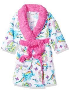 Orange, Size 100: 2-3T Baby Boys Girls Cartoon Bathrobe Soft Coral Fleece Infant Toddler Muticolored Sleepwear Outfit