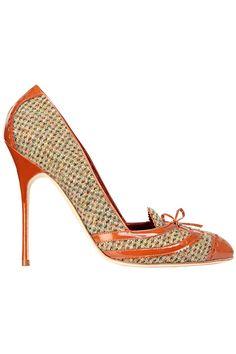 Manolo Blahnik Classy Brown & Neutral Pumps Fall Winter 2013 #Manolos #Shoes #Heels