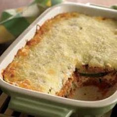 Veggie Lasagna Swap out pasta and add more veggies in this new twist on an Italian favorite from The Biggest Loser Simple Swaps Ww Recipes, Low Carb Recipes, Cooking Recipes, Healthy Recipes, Pasta Recipes, Healthy Foods, Healthy Lasagna, Veggie Lasagna
