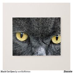 Black Cat Eyes Jigsaw Puzzle Black Cat Eyes, Make Your Own Puzzle, Custom Gift Boxes, Kittens Cutest, High Quality Images, Jigsaw Puzzles, Owl, Vibrant, Kitty